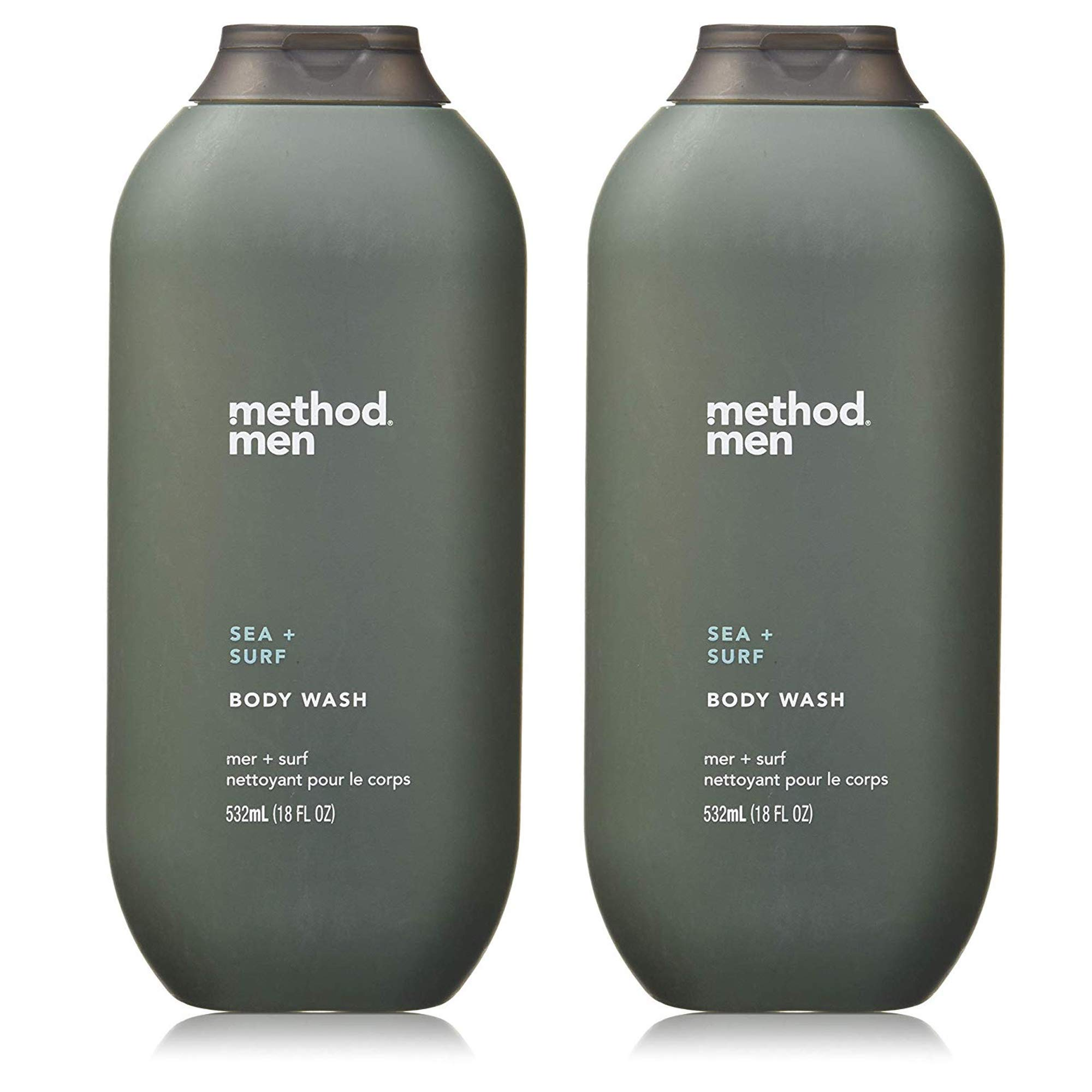 Method Men Body Wash Sea and Surf, 18 Ounce, 2 Pack