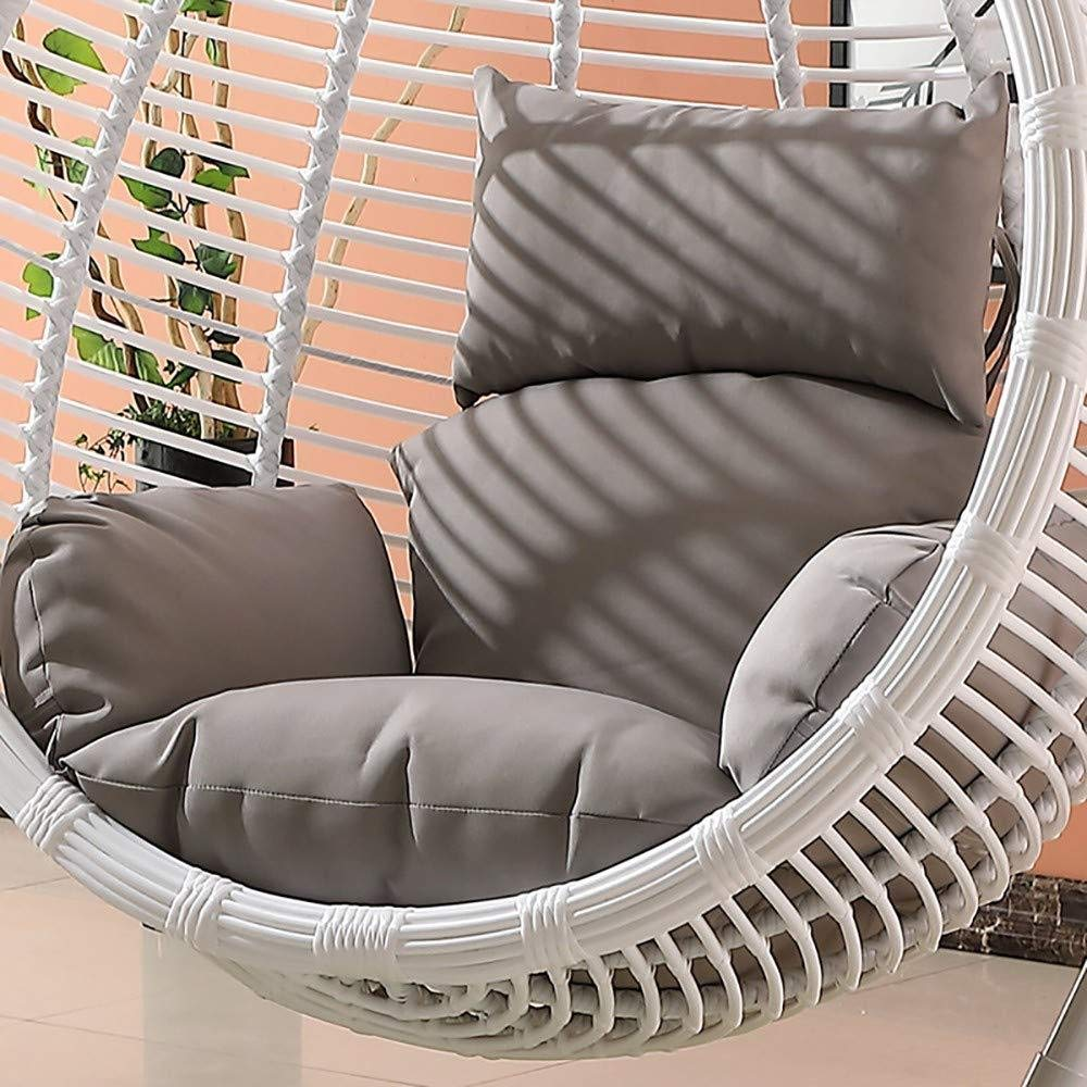 MonthYue Hanging Basket Chair Cushion, Hanging Chair Cushions Without Stand Thick Rocking Chair Cushion for Hanging Egg Hammock,Grey by MonthYue