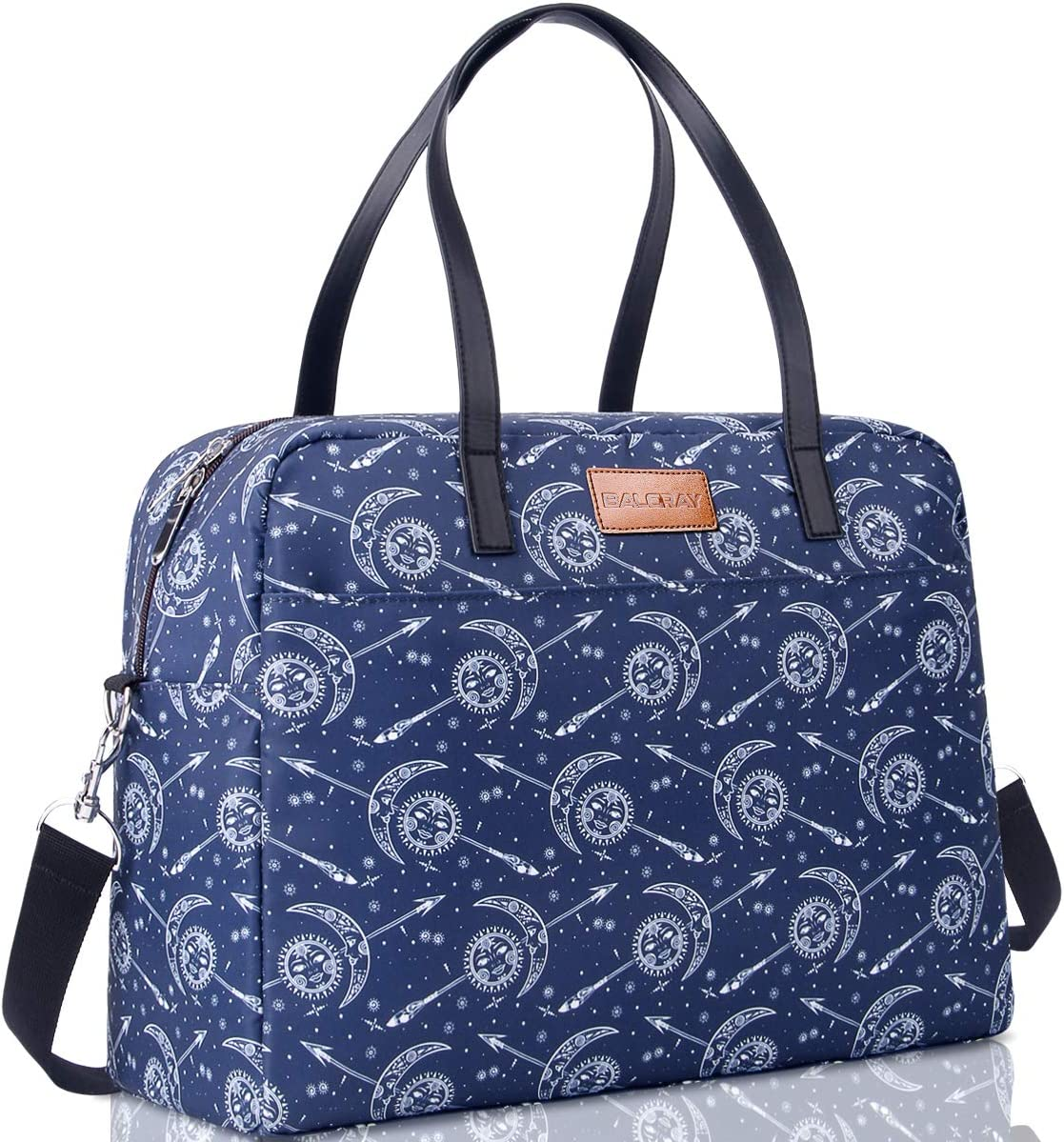 BALORAY Large Insulated Lunch Bag Waterproof Cooler Carrier Bag Lunch Tote Bags for Outdoor Camping,Beach Day or Travel Collapsible Grocery Shopping Storage Bag (G-336 Blue)
