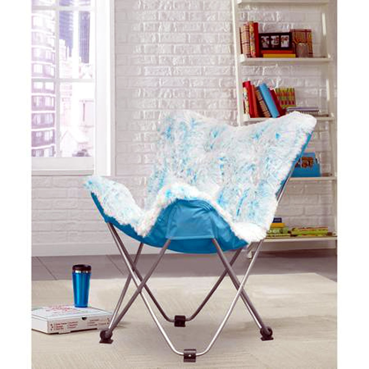 Superieur Amazon.com: Butterfly Folding Chair In Faux Fur Or Vegan Leather. Portable  For Sports, Adults U0026 Childrens Rooms, Tailgate Parties, Even Camping ...
