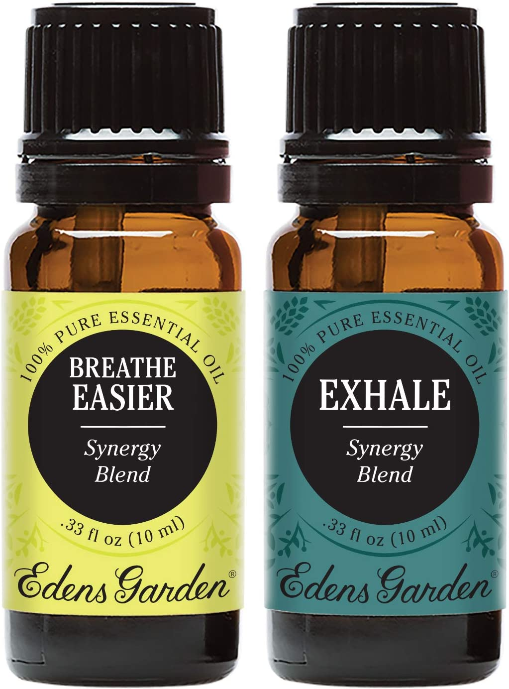 Edens Garden Breathe Easier & Exhale Essential Oil Synergy Blend, 100% Pure Therapeutic Grade, 10 ml Value Pack
