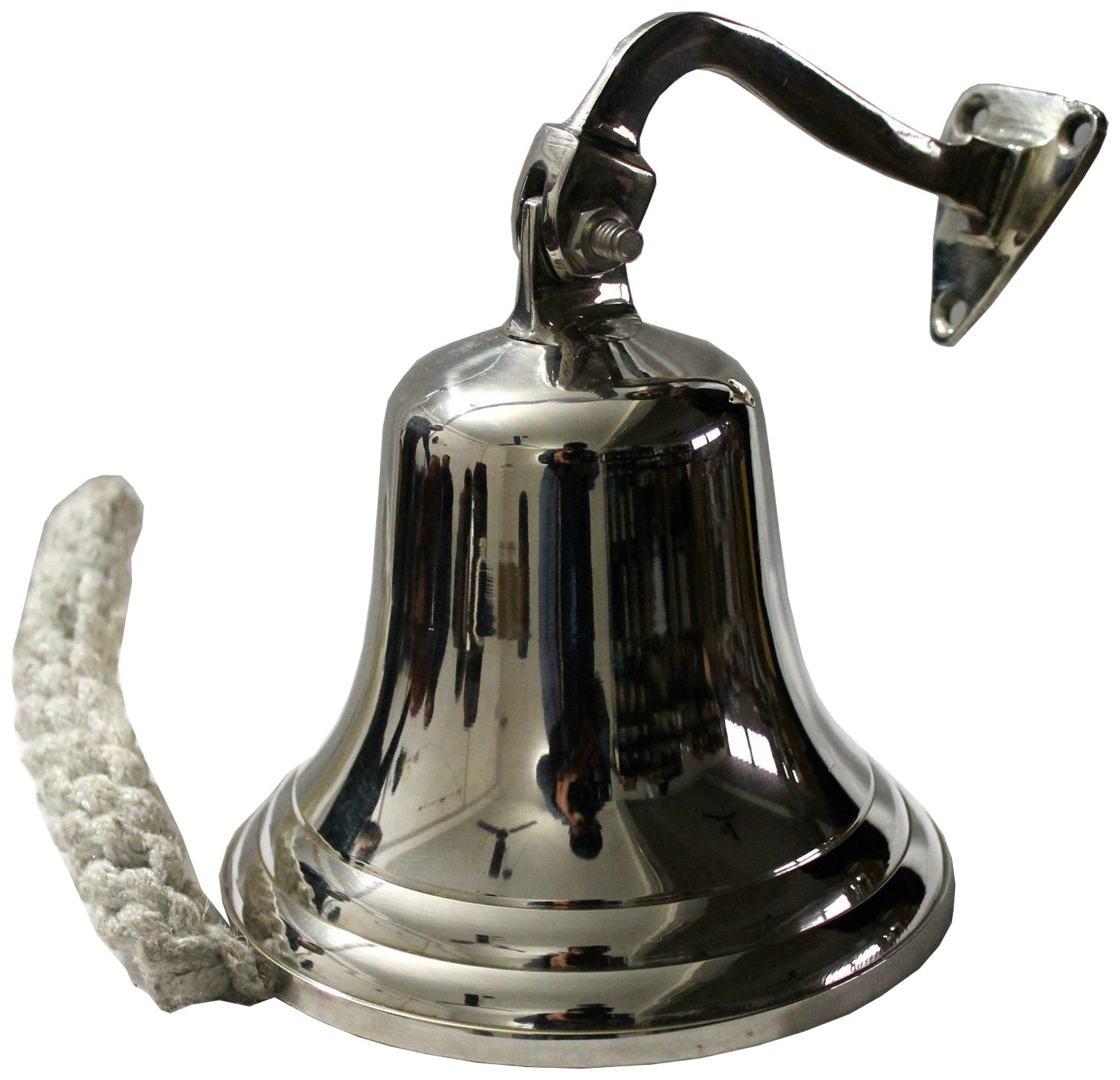 Nautical Reception ARSUK Boat Bell Antique Bell to Hang School Dinner Wall Decoration 3 cloche en laiton Marine in Solid Brass