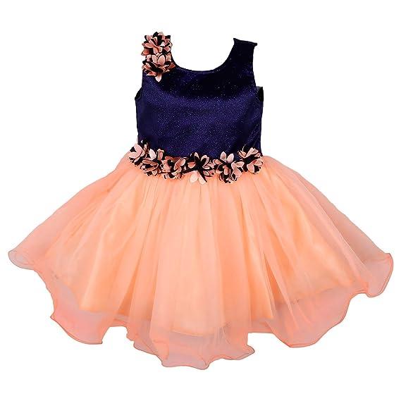 046678e5f71cf Wish Karo Baby Girls Net Frock Dress - (bx1005)  Amazon.in  Clothing ...