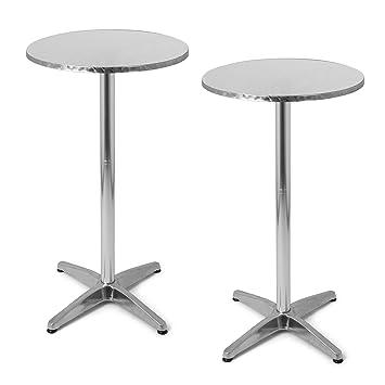 Set di Tavoli da Bistrò in Alluminio | 2x Tavolo da Bistrot ...