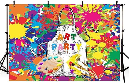 Fantastic Amazon Com Mehofoto Art Painting Birthday Party Backdrops Kids Personalised Birthday Cards Sponlily Jamesorg