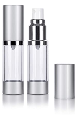 Amazon.com: Airless botella de Spray plata mate – 0.5 oz ...