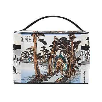 1ec64bf8fd Amazon.com   Ukiyoe Ukiyo-E Print Japanese Art Travel Makeup Toiletry  Organizer Case Cosmetic Bag   Beauty