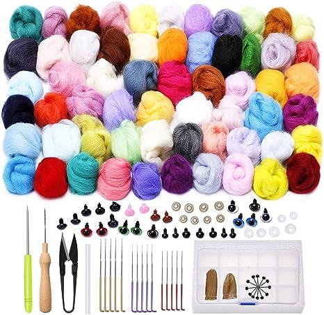Needle Felting Kit Starter Tool Kit,Wool Felt Tools with Foam Mat Included for Felted Animal Gift Fibre Yarn Needle Felting Supplies