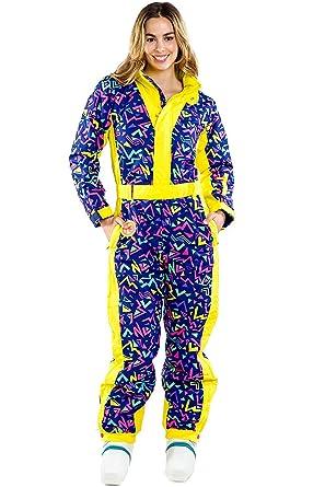 479c80fb49 BeiranDuo Zero Chill Neon Purple Ski Suit - Cute and Stylish Retro Ski Suit  (L