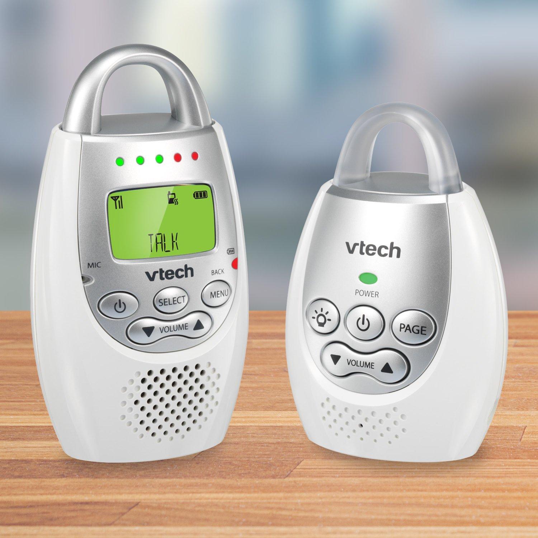 VTech DM221 Audio Baby Monitor with up to 1,000 ft of Range, Vibrating Sound-Alert, Talk Back Intercom & Night Light Loop by VTech (Image #2)
