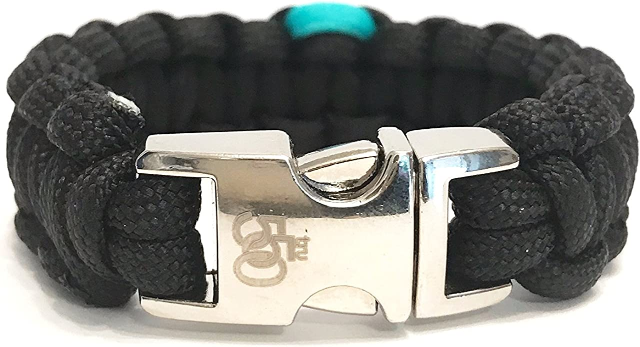 Details about  /Paracord Awareness Ribbon Teal//White