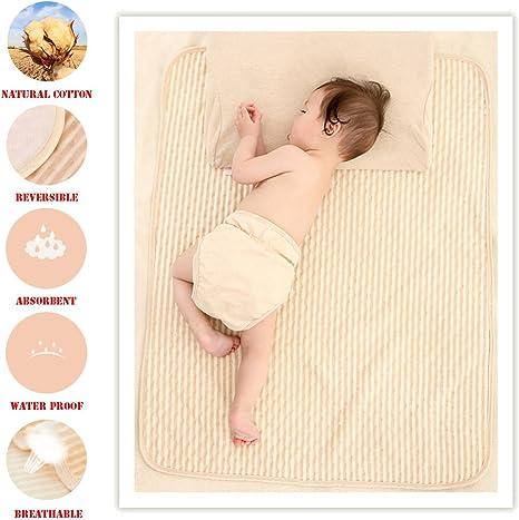 Colchón de algodón orgánico impermeable para bebé recién nacido, cuna absorbente, manta de lactancia, sábana de incontinencia para niños y adultos: Amazon.es: Hogar