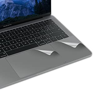 LENTION Palm Rest Skin for MacBook Pro (13-inch, 2016 2017 2018 2019, with Thunderbolt 3 Ports), Protective Vinyl Decal Cover Sticker with Trackpad Protector (Space Gray)