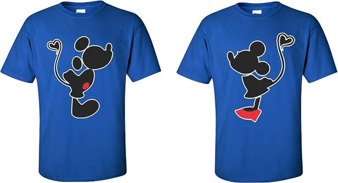 7cf0b611b04 Mickey Minnie Kissing Cute Funny Matching Disney Couples T-Shirts S-4XL at  Amazon Men s Clothing store
