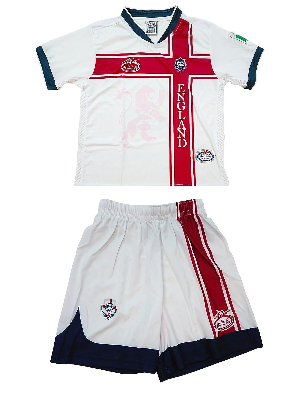 England Arza Youth Soccer Uniform B01N9MHO2Y 6 ホワイト ホワイト 6