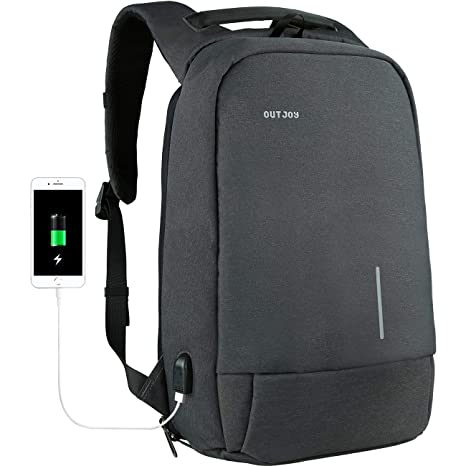 870c0416f5 OUTJOY Backpack for Men Anti-Theft Laptop Backpack Computer Backpack for  Business Work Travel with
