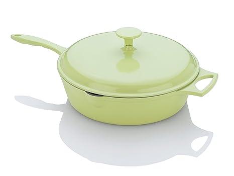 Fagor Michelle B, 4-quart pollo con forma de freidora con tapa, verde