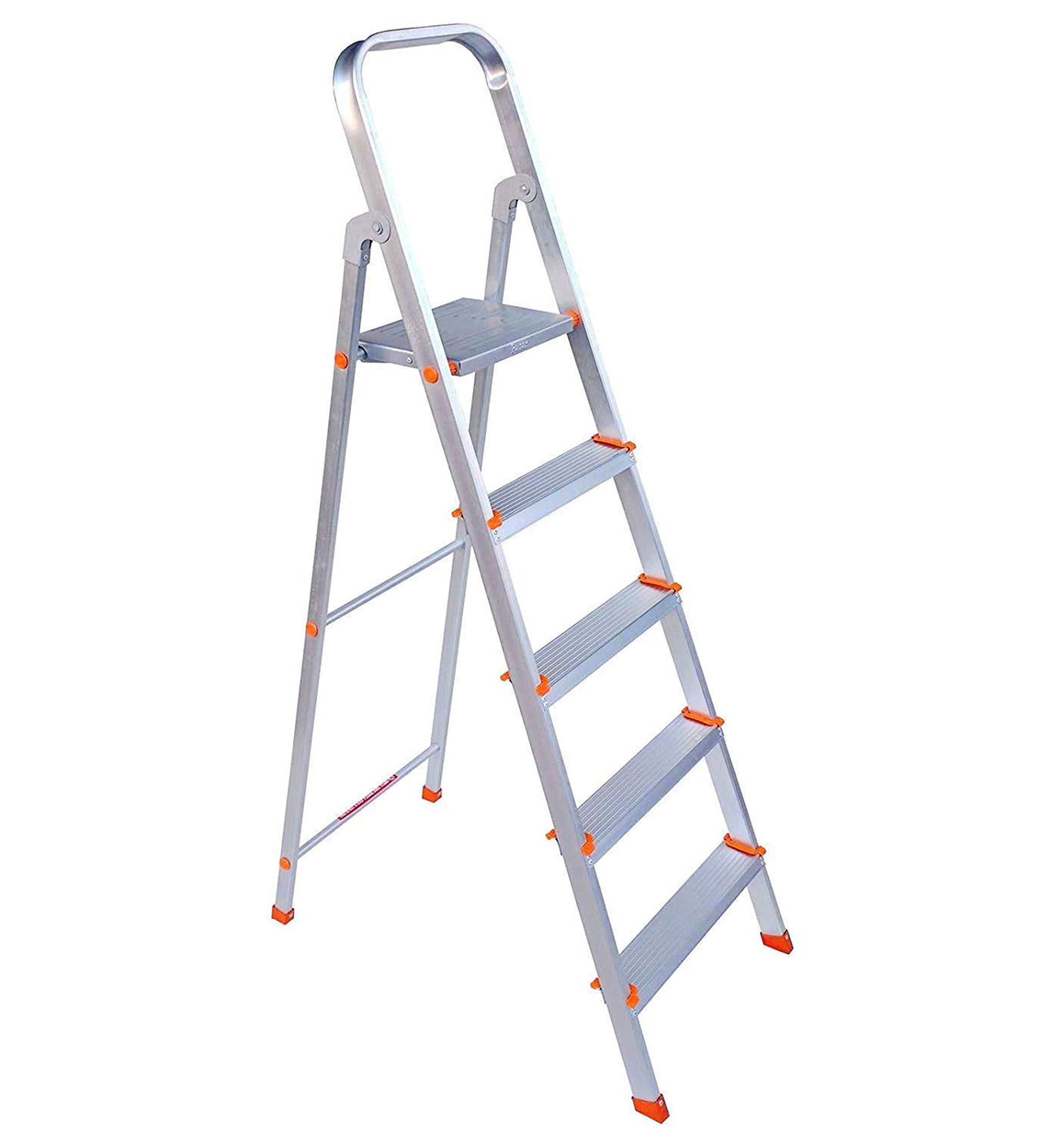 Paras Corporation 5 Step Foldable Aluminium Ladder for Home Use(Silver) (B07RMTRZ8N) Amazon Price History, Amazon Price Tracker