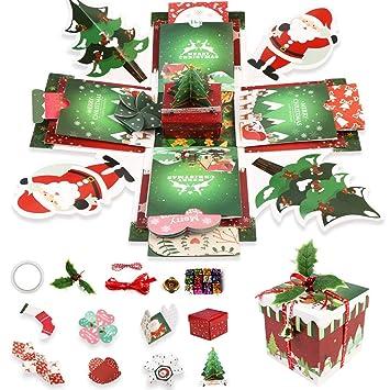 Amazon.com: OurWarm - Caja de regalo para Navidad, álbum de ...