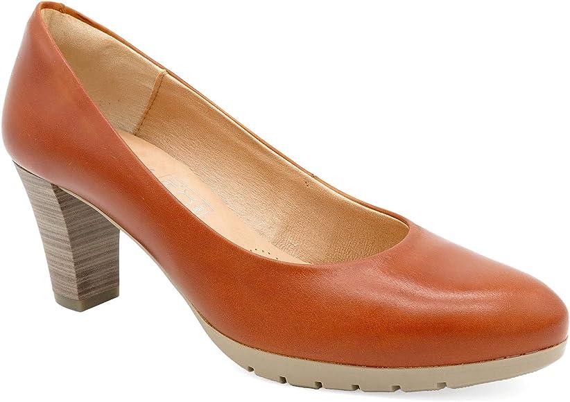 Desireé Hecho en España - zapatos de tacón para mujer cuero marrón ...