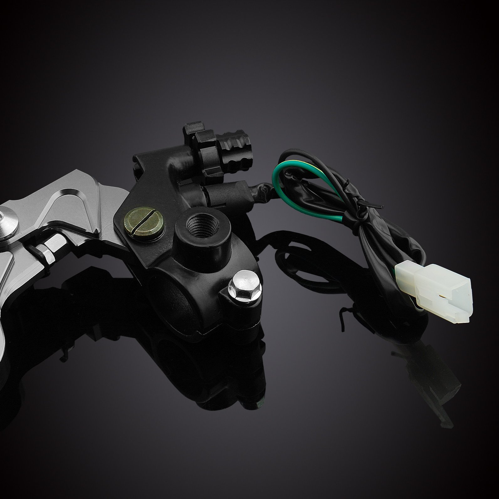 MZS 7/8 Brake Master Cylinder Reservoir Pivot Levers Set for Honda Yamaha Suzuki Kawasaki KTM (Gray) by MZS (Image #6)