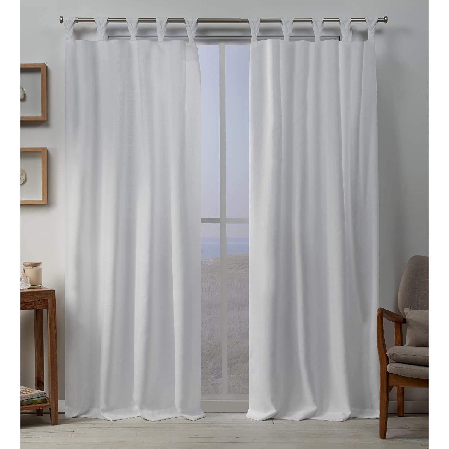 Exclusive Home Curtains Loha BT Panel Pair, 54x84, Winter White