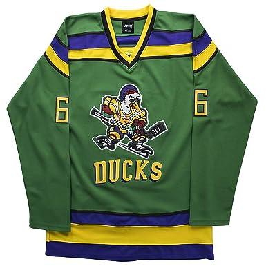 best cheap 6ad24 b3a90 Amazon.com: AIFFEE Gordon Bombay #66 Ducks Hockey Jersey ...