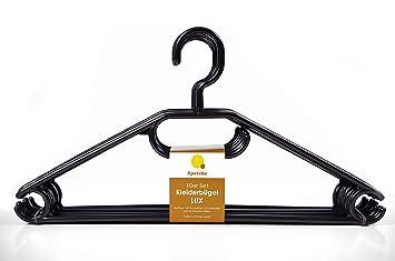 Kleiderbügel 50er pack in schwarz extra schwere qualität 45g pro