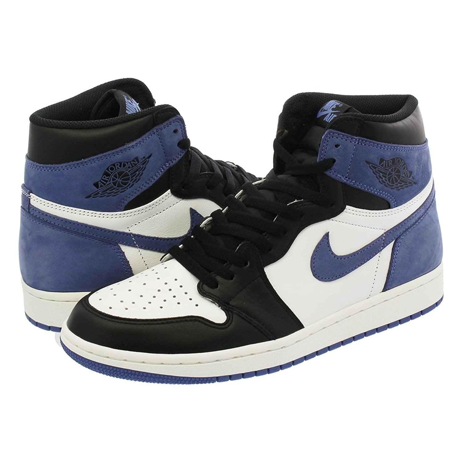 [ナイキ] NIKE AIR JORDAN 1 RETRO HIGH OG SUMMIT WHITE/BLUE MOON/BLACK 【HAND IN THE GAME COLLECTION】【25.0cm~28.5cm】 [並行輸入品] B07F1VSX1N