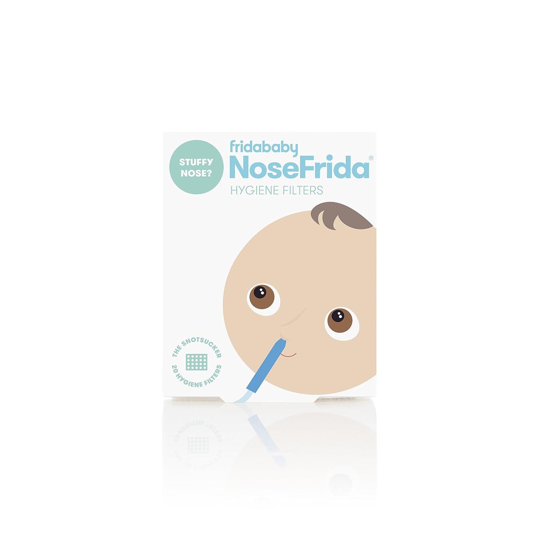 Nosefrida filtros de repuesto de aspirador nasal, paquete de 20 unidades
