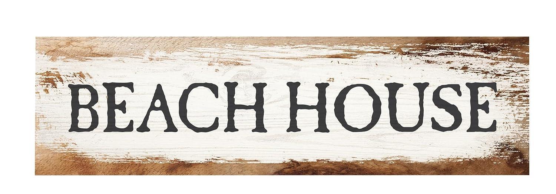 P. Graham Dunn Beach House Whitewash 6 x 1.5 Mini Pine Wood Tabletop Sign Plaque