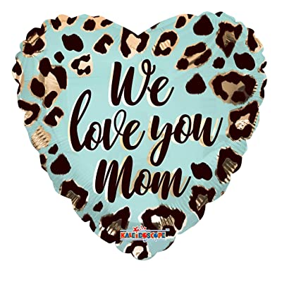 "18"" We Love You Mom Pink Heart Shape Helium Foil Balloon (5 Pack): Health & Personal Care"