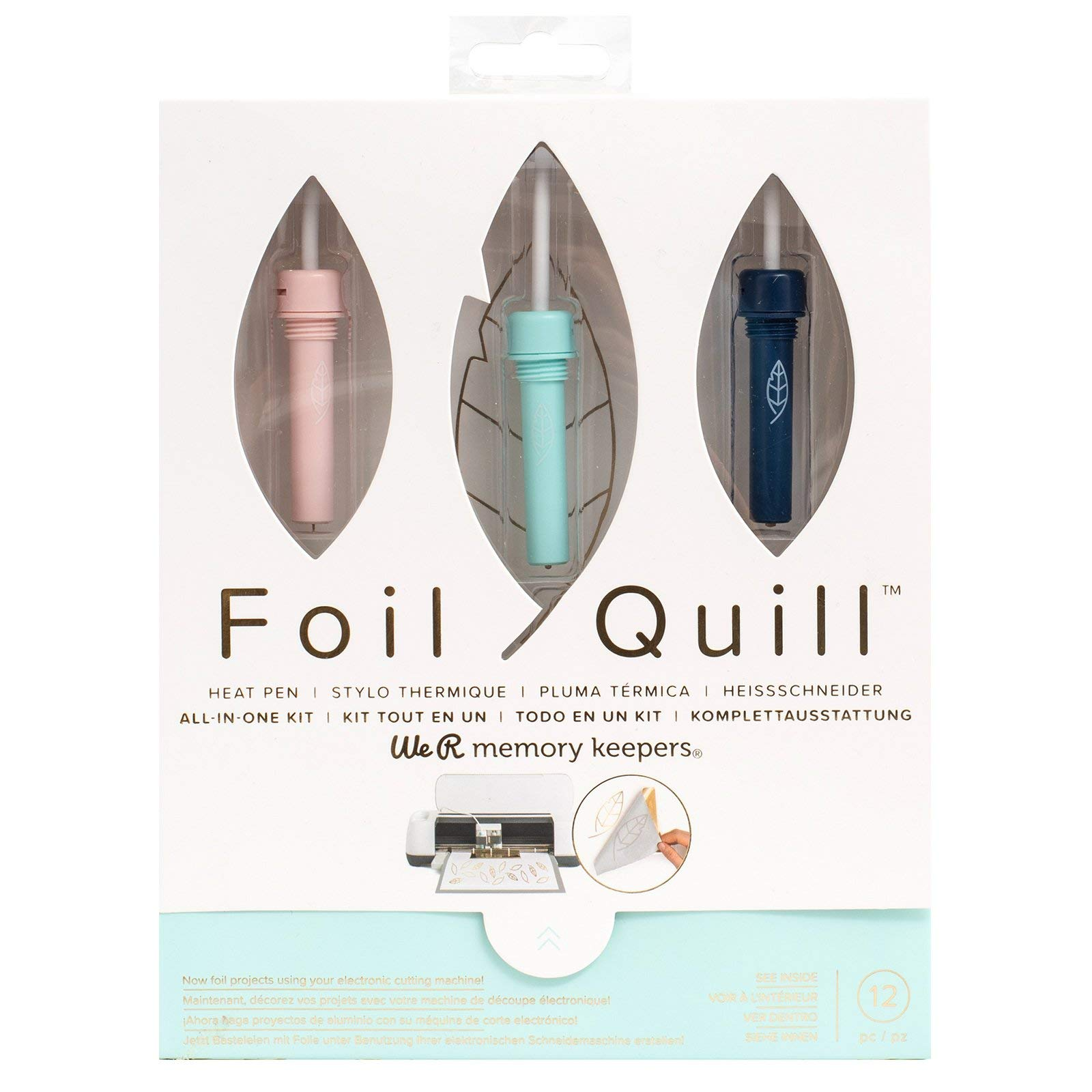 Foil Quill All-in-One Bundle, 3 Quill Sizes, Adapters, Foils, Tape, Design Card by We R Memory Keepers (Image #2)