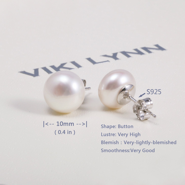 f3ca2380808e VIKI LYNN Perlen Ohrstecker Perlenohrringe Damen Ohrringe Sterling Silber  925 Ohrringe mit 10-11mm Suesswasserperlen  Amazon.de  Schmuck