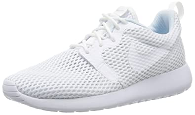 finest selection 6307d d267b Nike Roshe One Hyperfuse Br, Chaussures de Running Entrainement Femme,  Blanc White Pure