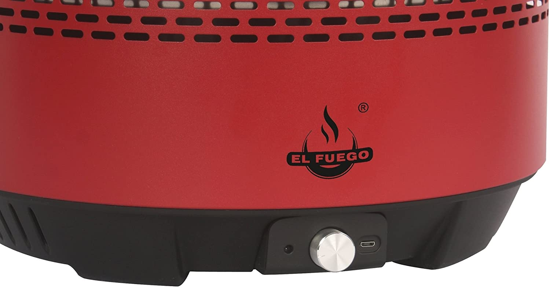 El Fuego Holzkohlegrill Tulsa Test : El fuego holzkohlegrill denton bxtxh: 34x36x22 cm rot: amazon.de