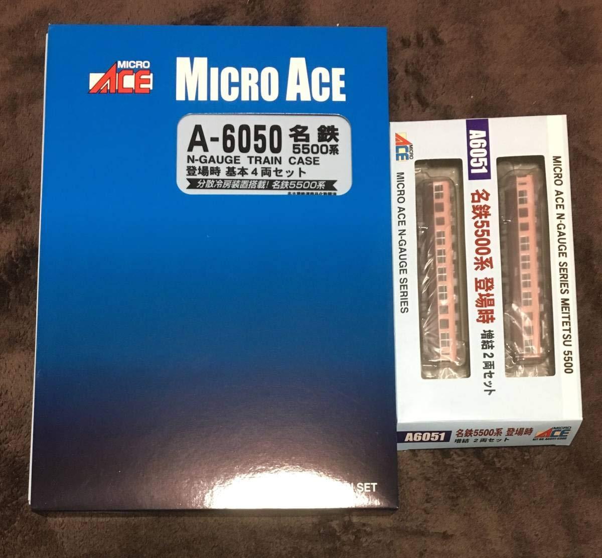 新品 MicroAce マイクロエース A-6050 名鉄 5500系 登場時 基本4両+ A-6051 名鉄 5500系 登場時 増結2両 合計6両セット B07SL94X3K