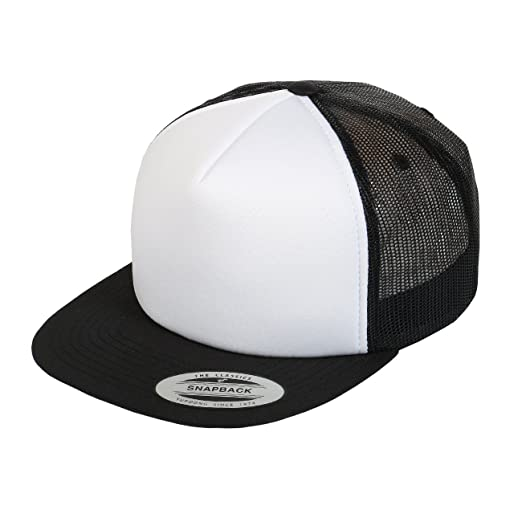 dda68523f9e Amazon.com  Yupoong 6005FF   6005FW Foam Trucker Snapback by Flexfit ...