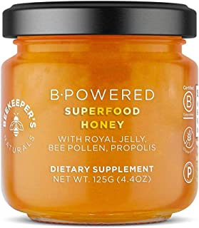 product image for BEEKEEPER'S NATURALS B.Powered - Fuel Your Body & Mind, Helps with Immune Support, Mental Clarity, Enhanced Energy & Athletic performance - Propolis, Royal Jelly, Bee Pollen, Honey (4.4 oz)