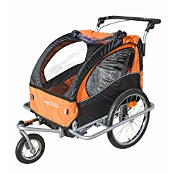 Baby Diego Bike Trailer/Jogger Orange/Black