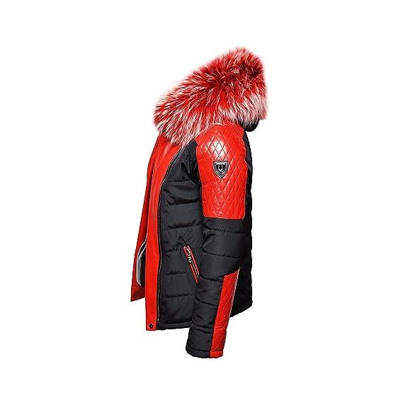 1222c47b1ad37 Ventiuno Modena Veste Doudoune Bi-matière Rouge Fourrure véritable Rouge  mèche Blanches épaisseur Maximum - L - Doudoune, Doudoune Homme, Veste  Homme, ...