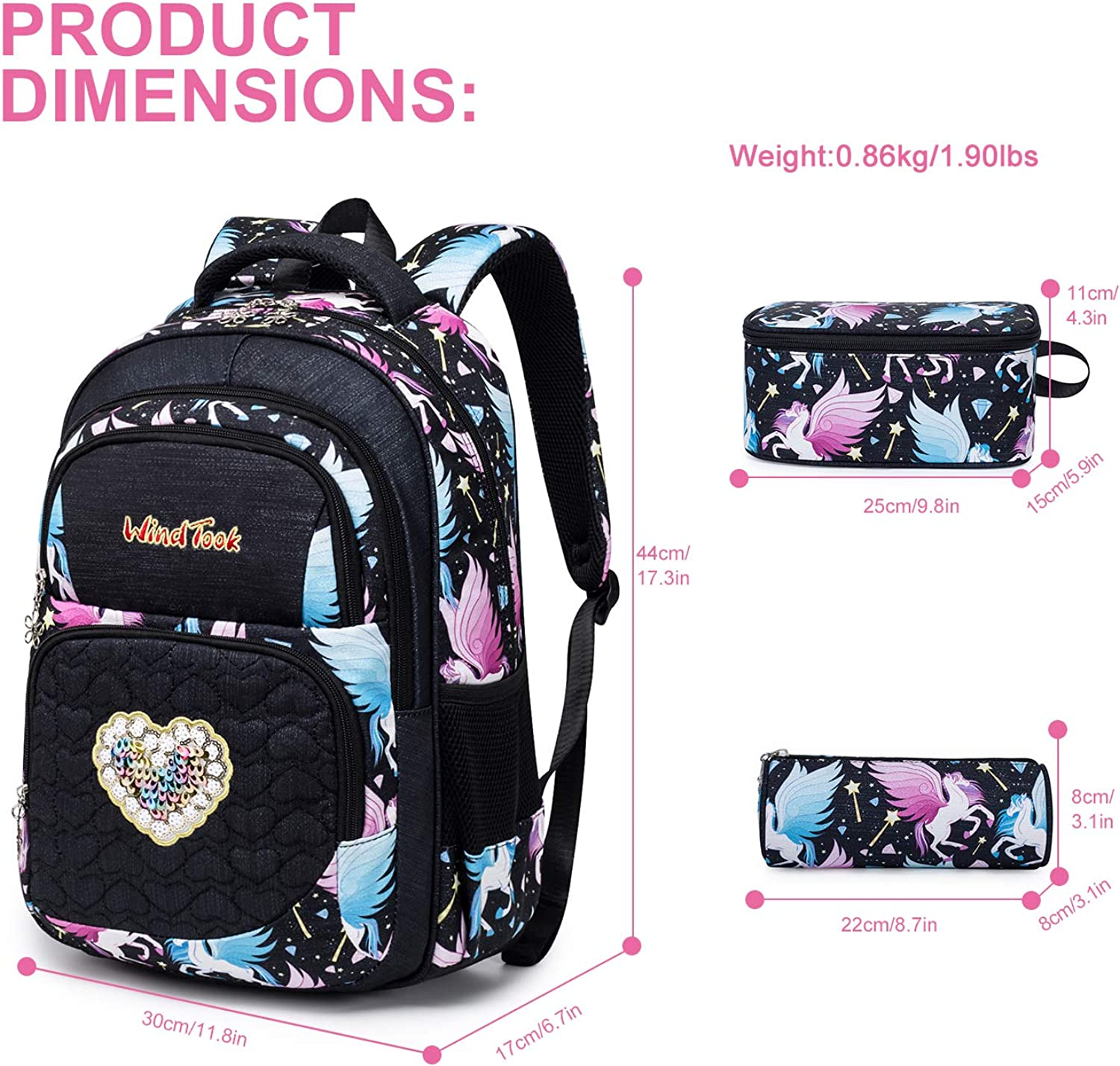 Limiejo Kid School Bag Fashion Supplies Creative Home Hanger Durable Water Resistant Classic Backpacks Daypack Bag Pack Casual Bags to School Kid Sports Bag