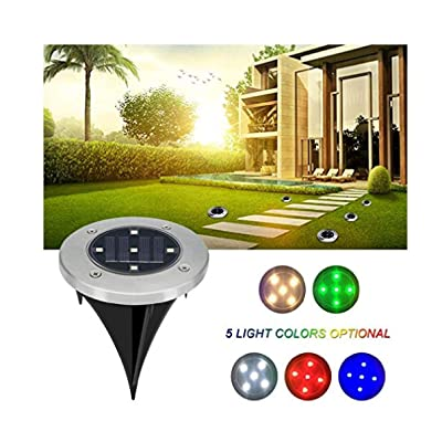Gfones Home Garden Solar Power 5 LED Buried Light Outdoor Lawn Underground Park Lamp Path Lights : Garden & Outdoor