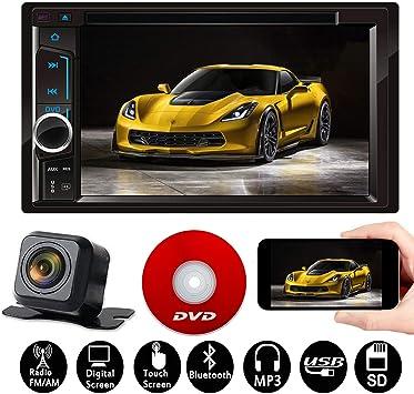 Amazon.com: Radio estéreo para coche Doble Din Indash 6,2 ...
