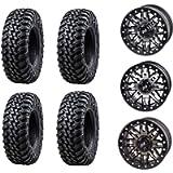 Bundle - Four 30x10-14 Tusk Terrabite 8 Ply Radial UTV Tires Mounted on Tusk Teton Beadlock Wheels -For CAN-AM MAVERICK…