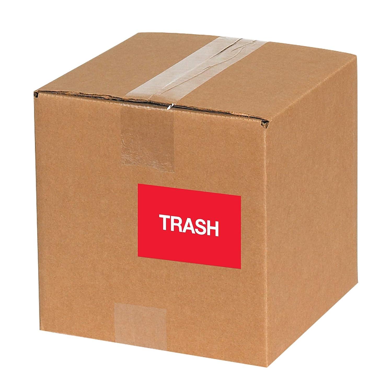 Tape Logic TLDL1149 Labels,Trash 2 x 3 1 Roll of 500 Labels Fluorescent Red