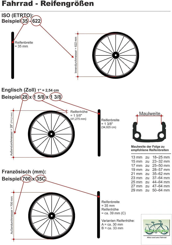 maxxi4you Kenda K-103 Cubiertas para bicicleta 2 unidades, 27, 32-630, 27 x 1 1//4, incluye 2 c/ámaras de aire AV, incluye 3 desmontadores