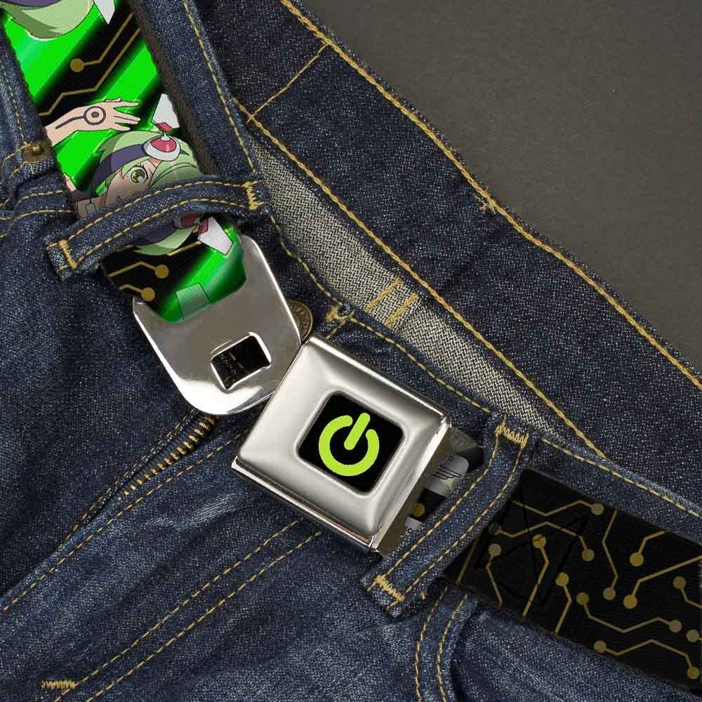 Buckle-Down Seatbelt Belt 32-52 Inches in Length 1.5 Wide DIMENSION W Kyouma Mabuchi 4-Poses//Circuit Board Black//Brown//Green//White