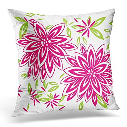 Amazon TORASS Throw Pillow Cover Green Pretty Chic Hot Pink Gorgeous Pink And Green Decorative Pillows