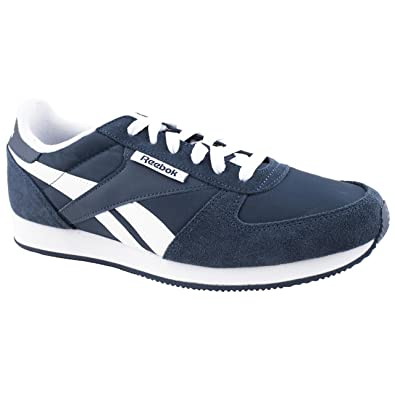 online store 4b728 b0b35 Mens Reebok Royal cl Jogger Navy  White Leisure Trainers Size 12